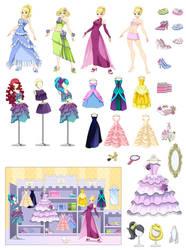 Disney-like Princess wardrobe by Precia-T