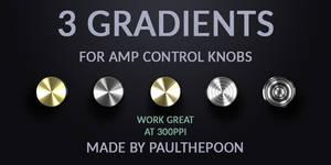 3 Amp Knob Gradients