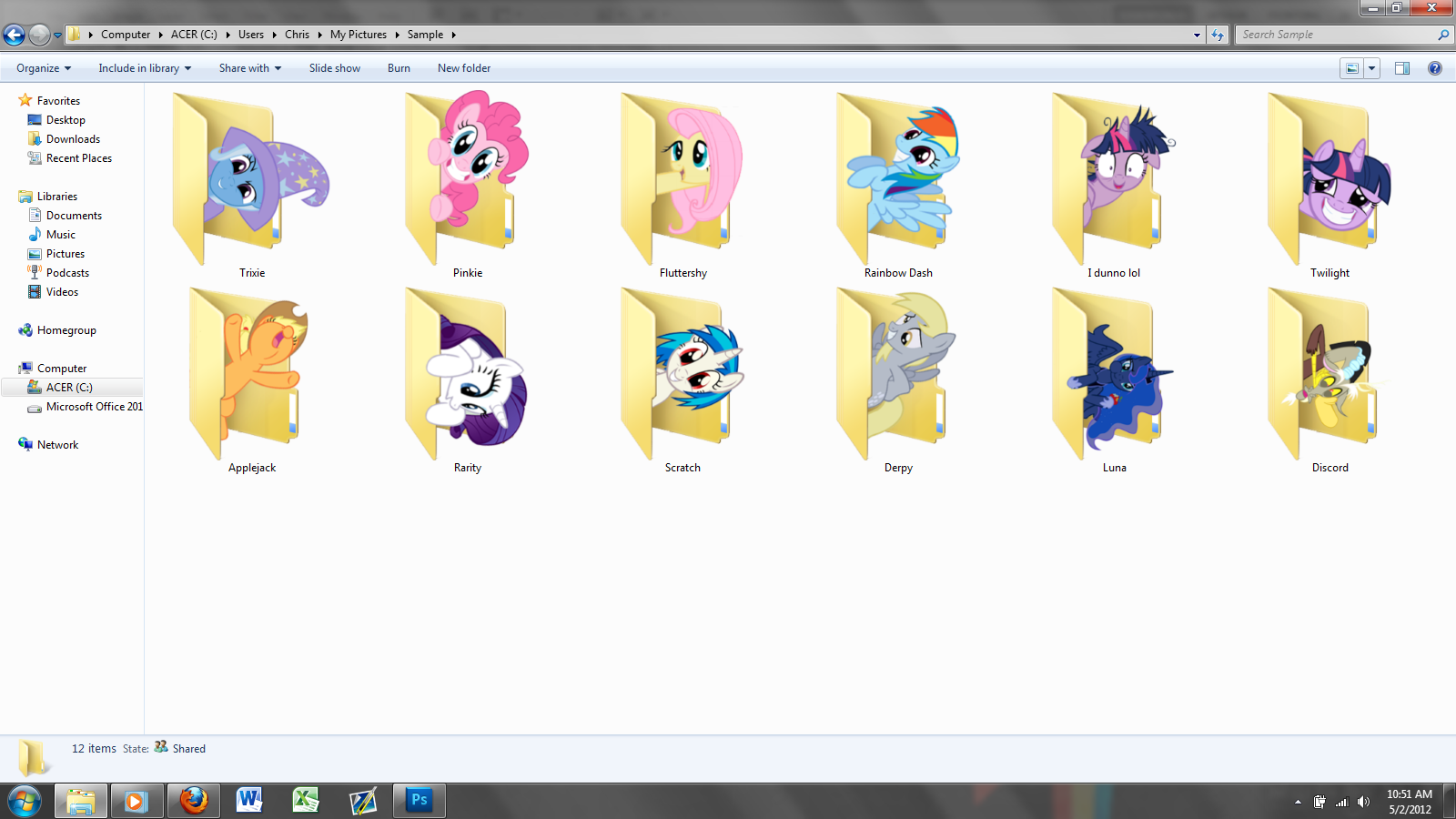 Pony Icon Pack 1 by Blues27Xx