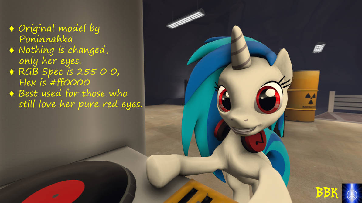 [DL] Vinyl Scratch with Red Eyes
