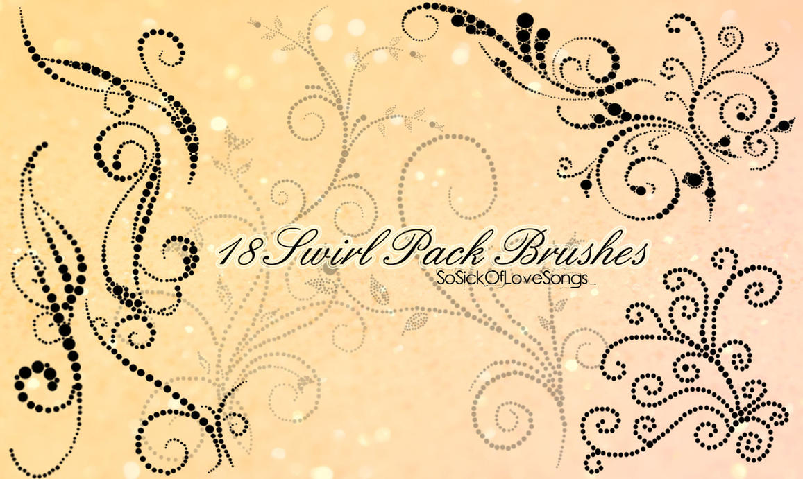 18 Pack Swirl Brushes by SoSickOfLoveSongs
