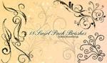 18 Pack Swirl Brushes by SoSickOfLoveSongs