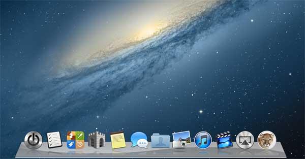 Mac  Mountain Lion OS X Dock by Shajanjp