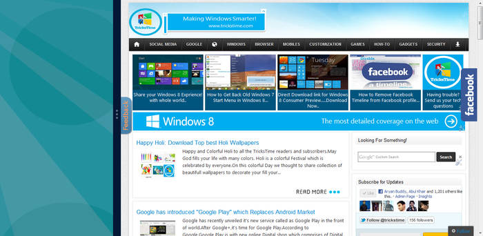Enable Windows 8 Snap Feature on Low Resolution PC