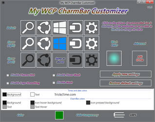 Windows 8 Consumer Preview Charm bar customizer