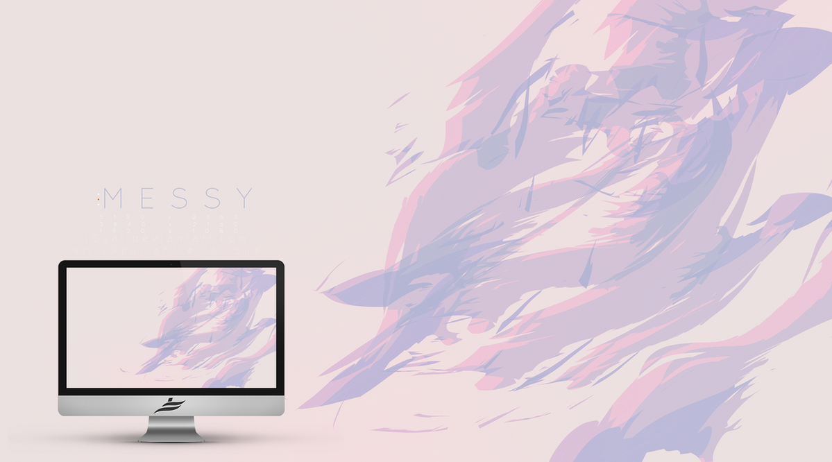 Messy wallpaper by i5yal