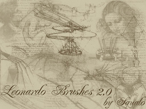 Leonardo Da Vinci Brushes 2.0 by squalo