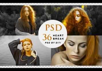 Psd 36  Heartbreak By Diti