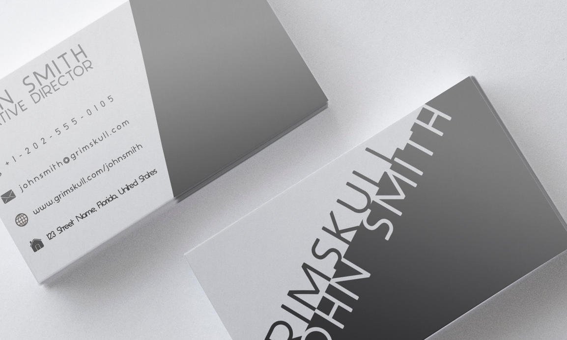 Black and White Business Card Template by Nik1010 on