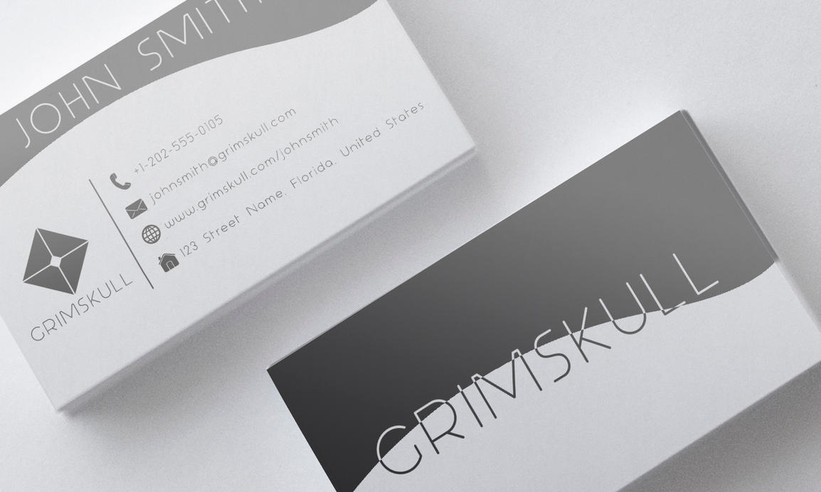Black And White Business Card Template By Nik On DeviantArt - White business card template
