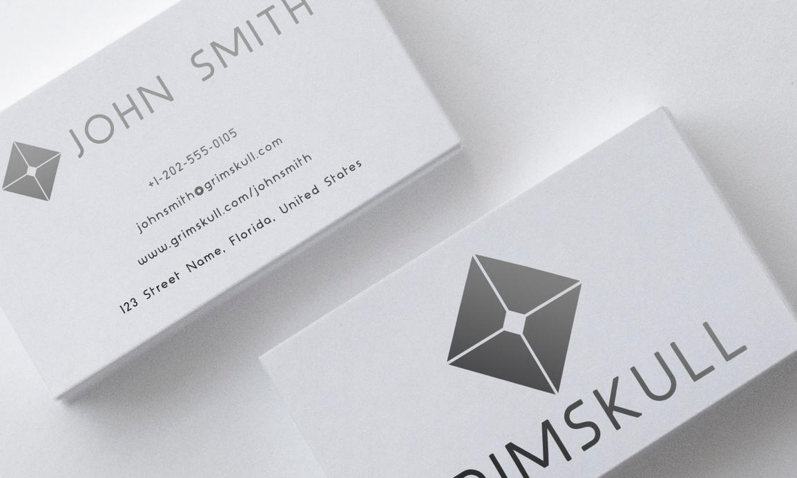 Black And White Simple Business Card Template By Nik On DeviantArt - White business card template