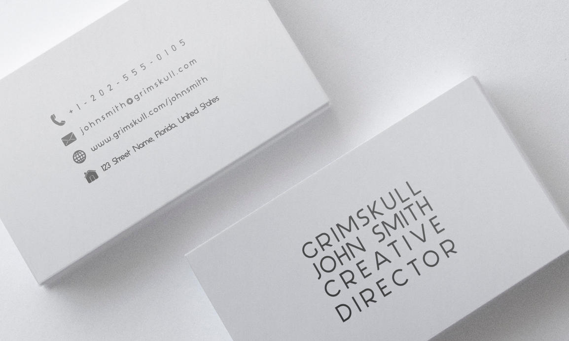 Minimalist White Business Card Template by Nik1010 on DeviantArt