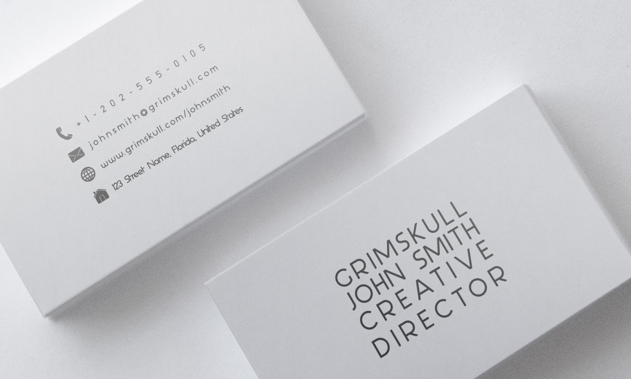 Minimalist White Business Card Template By Nik1010 On