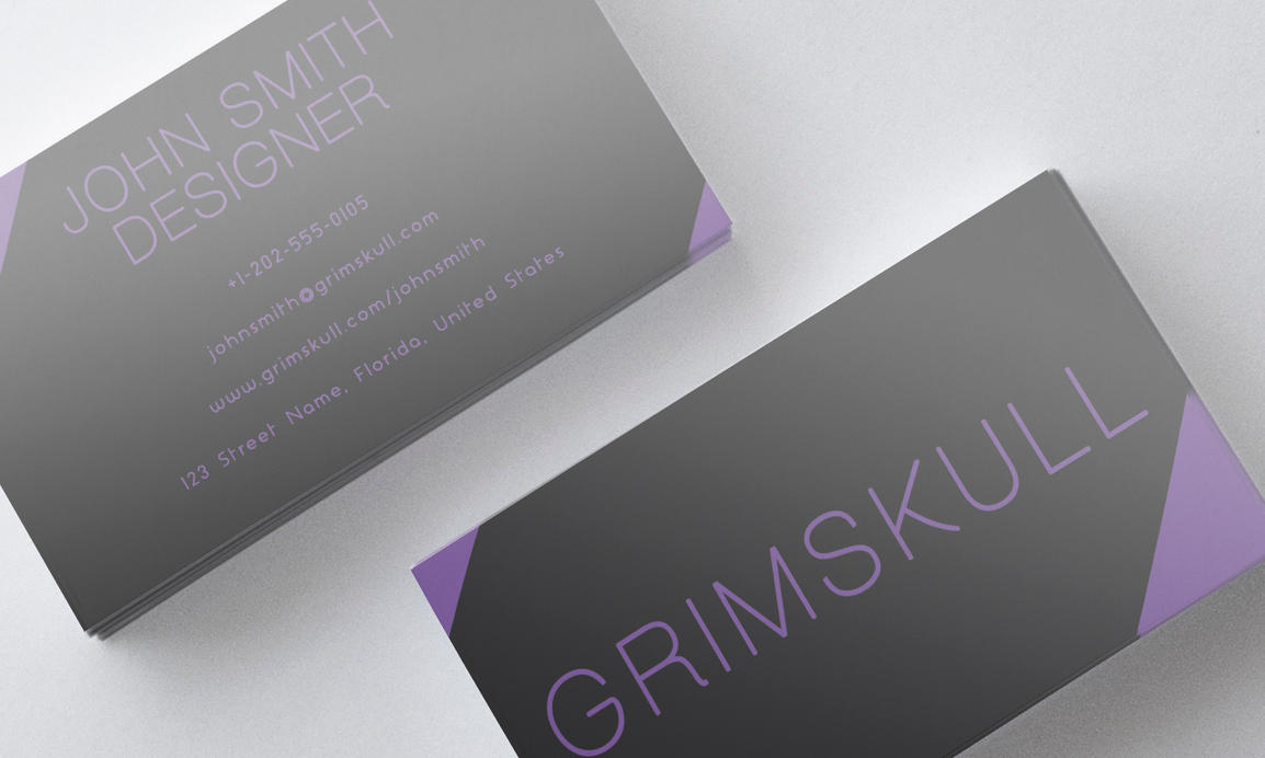 Black and Purple Business Card Template by Nik1010 on DeviantArt