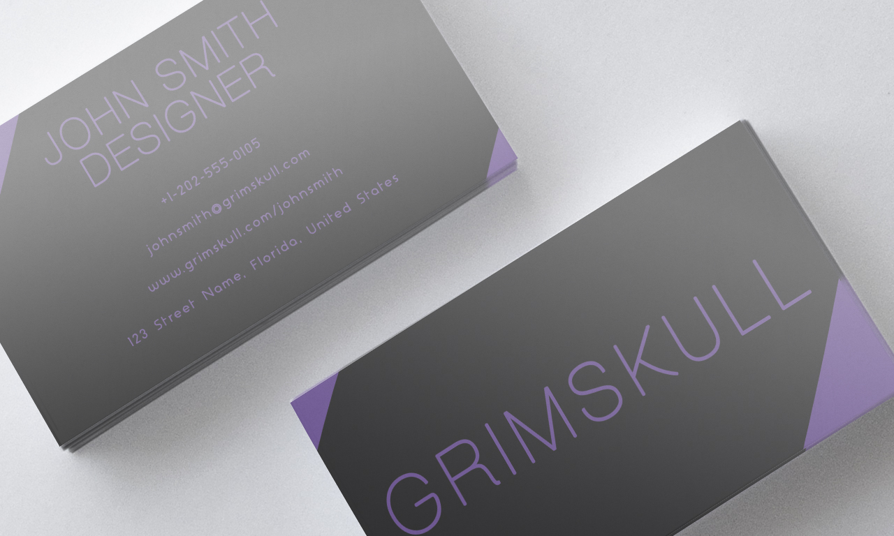 Black and purple business card template by nik1010 on for Purple business cards