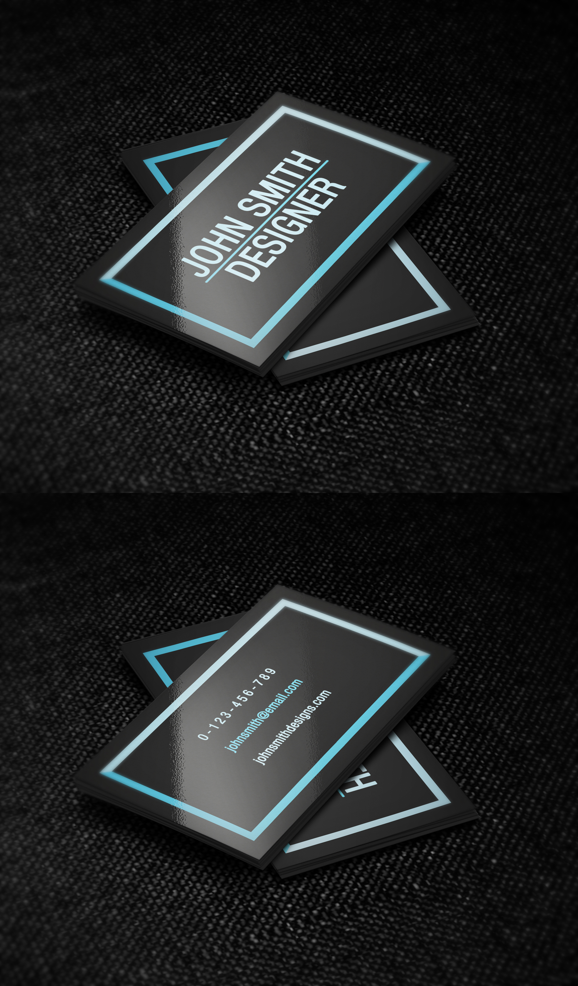 black and blue simple business card template by nik1010 on deviantart