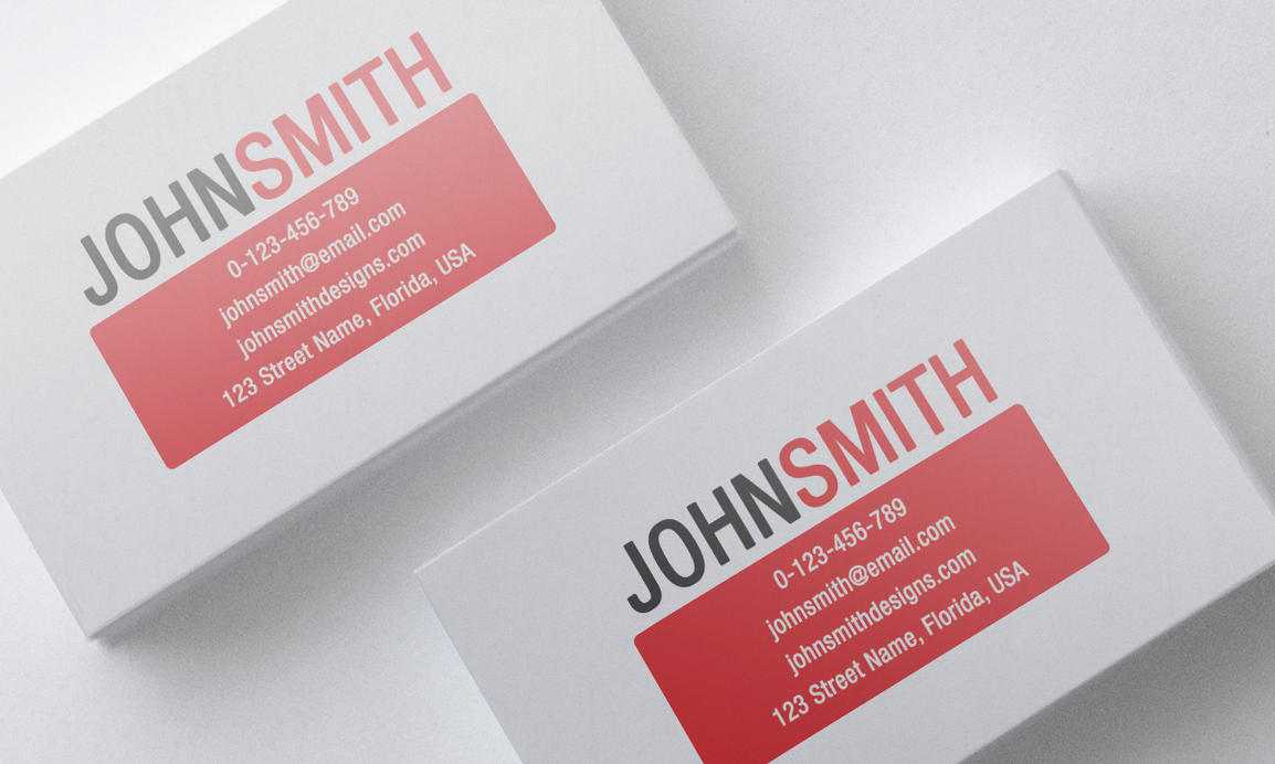 Minimalist red business card template by nik1010 on deviantart for Red business card template