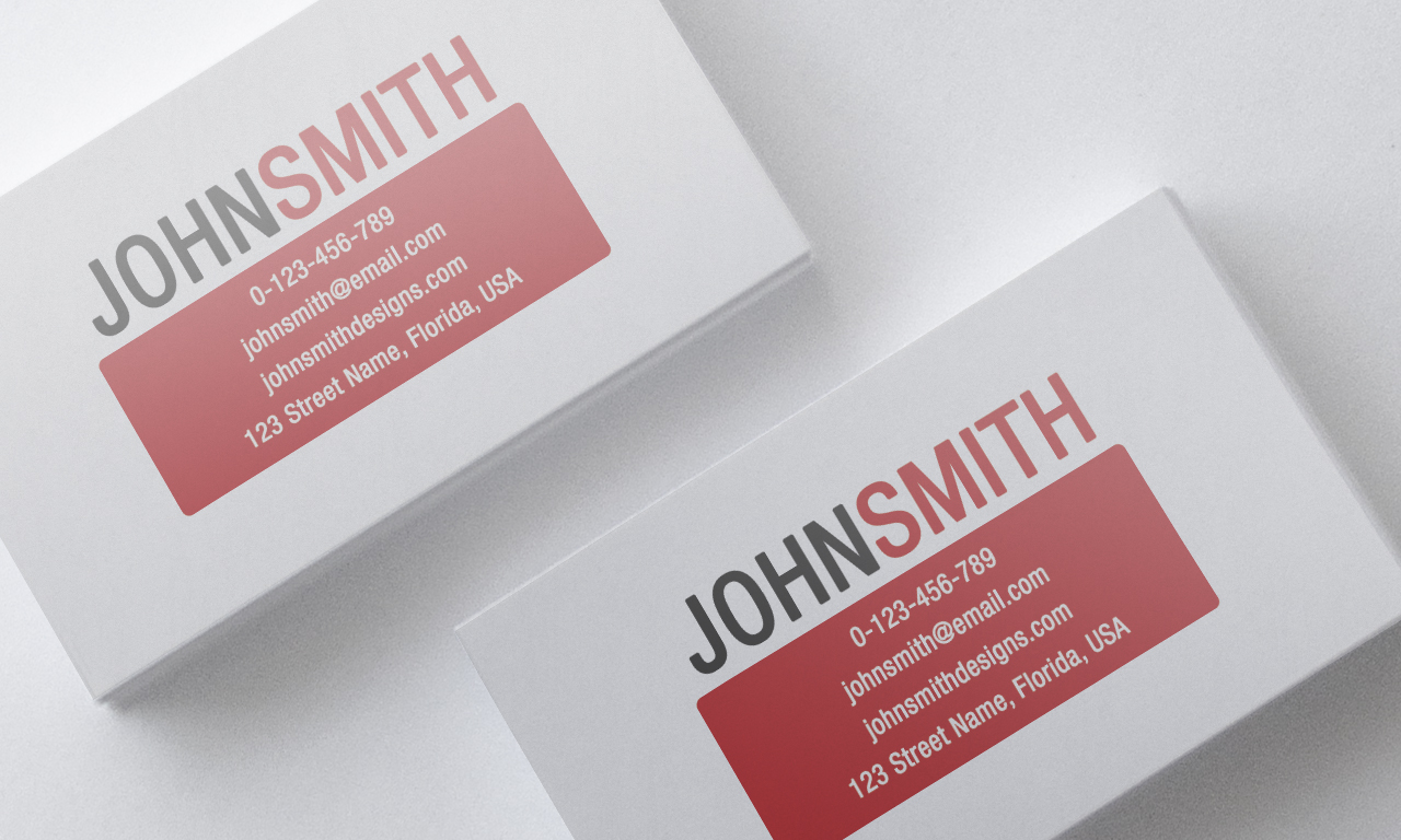 Minimalist Red Business Card Template