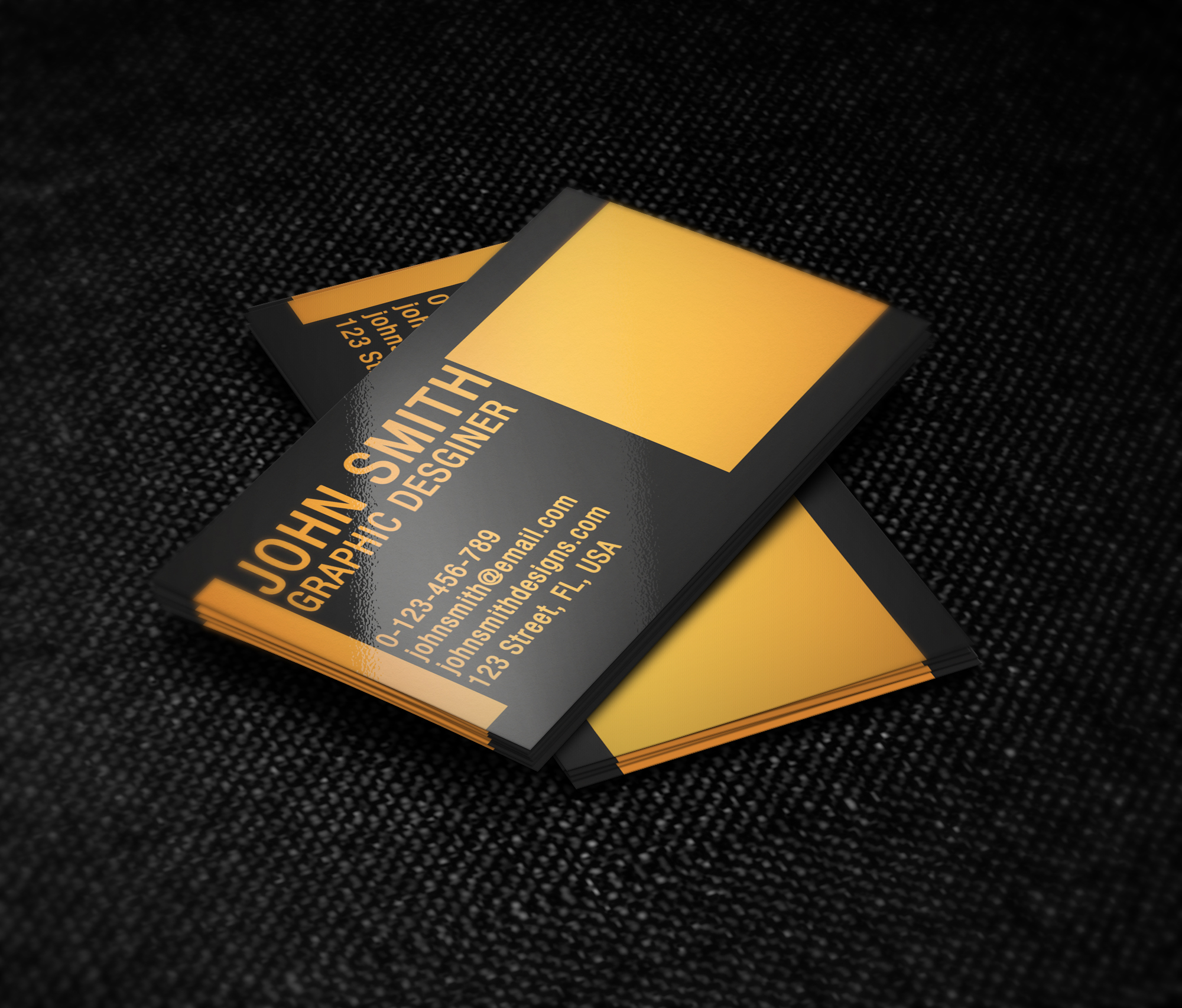 black and orange business card template by nik1010 on deviantart. Black Bedroom Furniture Sets. Home Design Ideas
