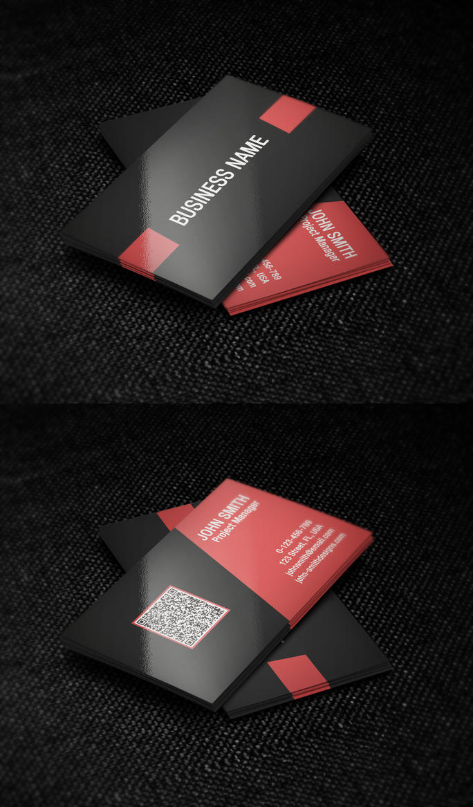 Red And Black Business Card Template By Nik1010