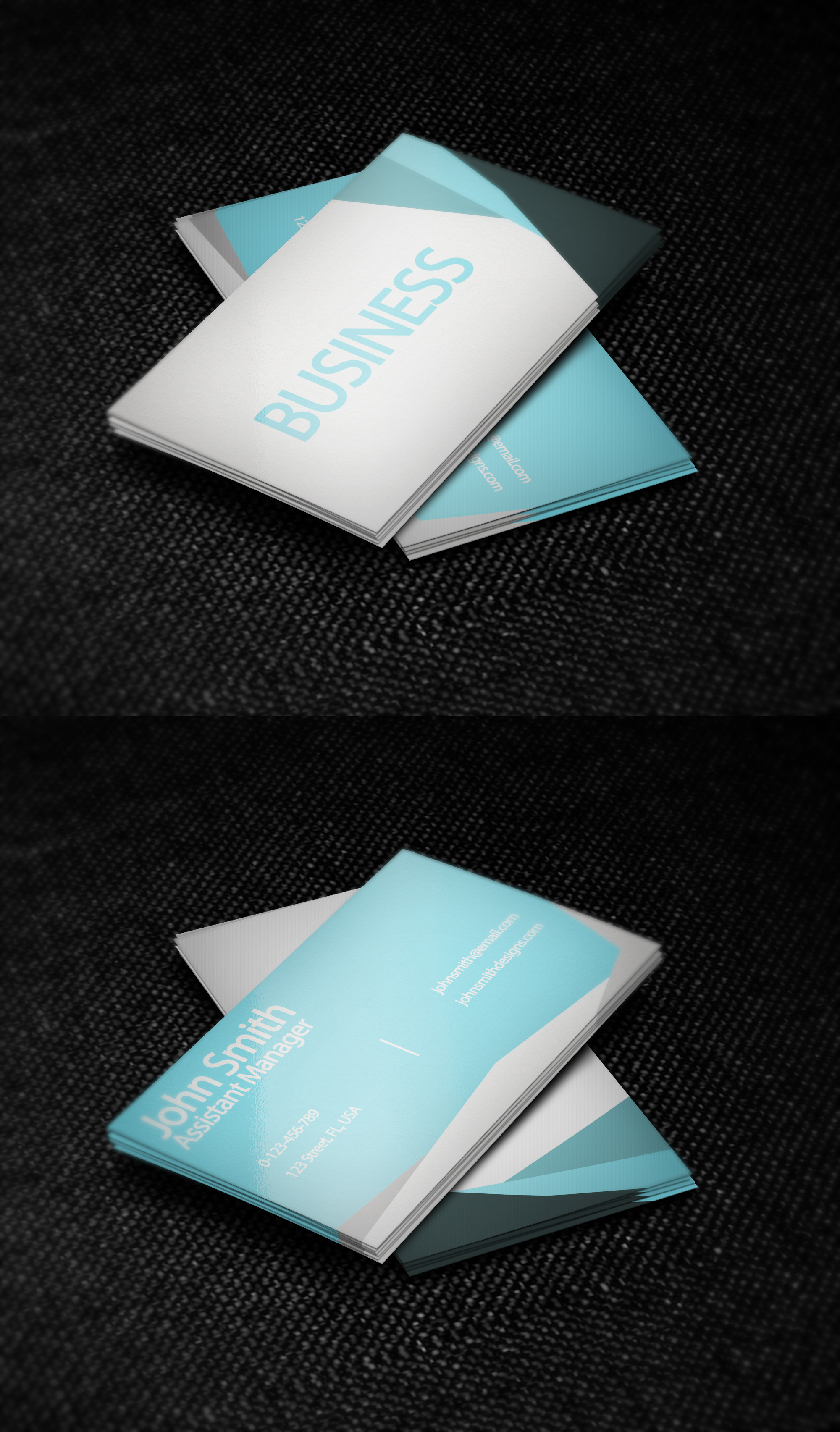 simple business card template by nik1010 on deviantart