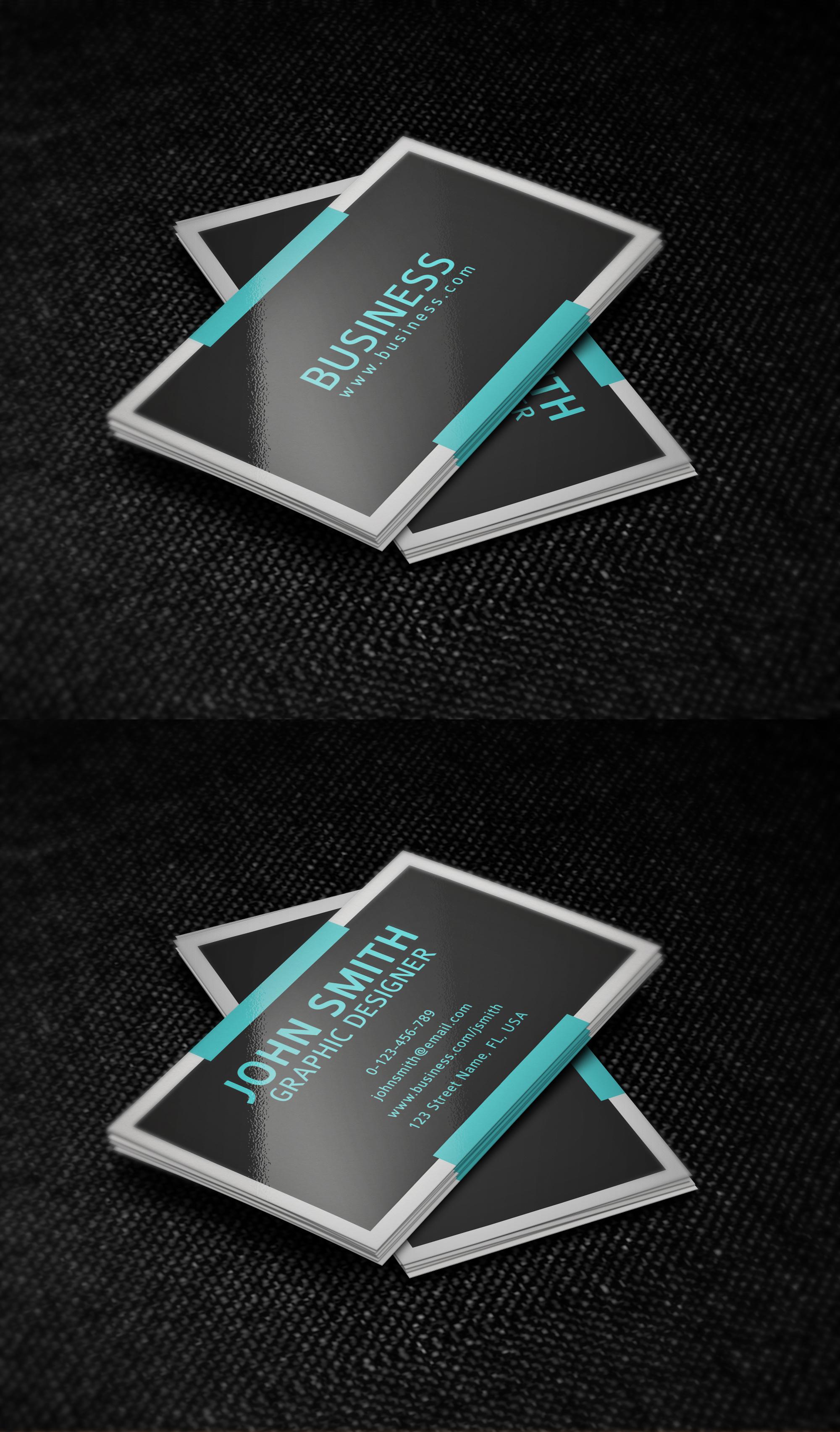 simple business card templatenik1010 on deviantart