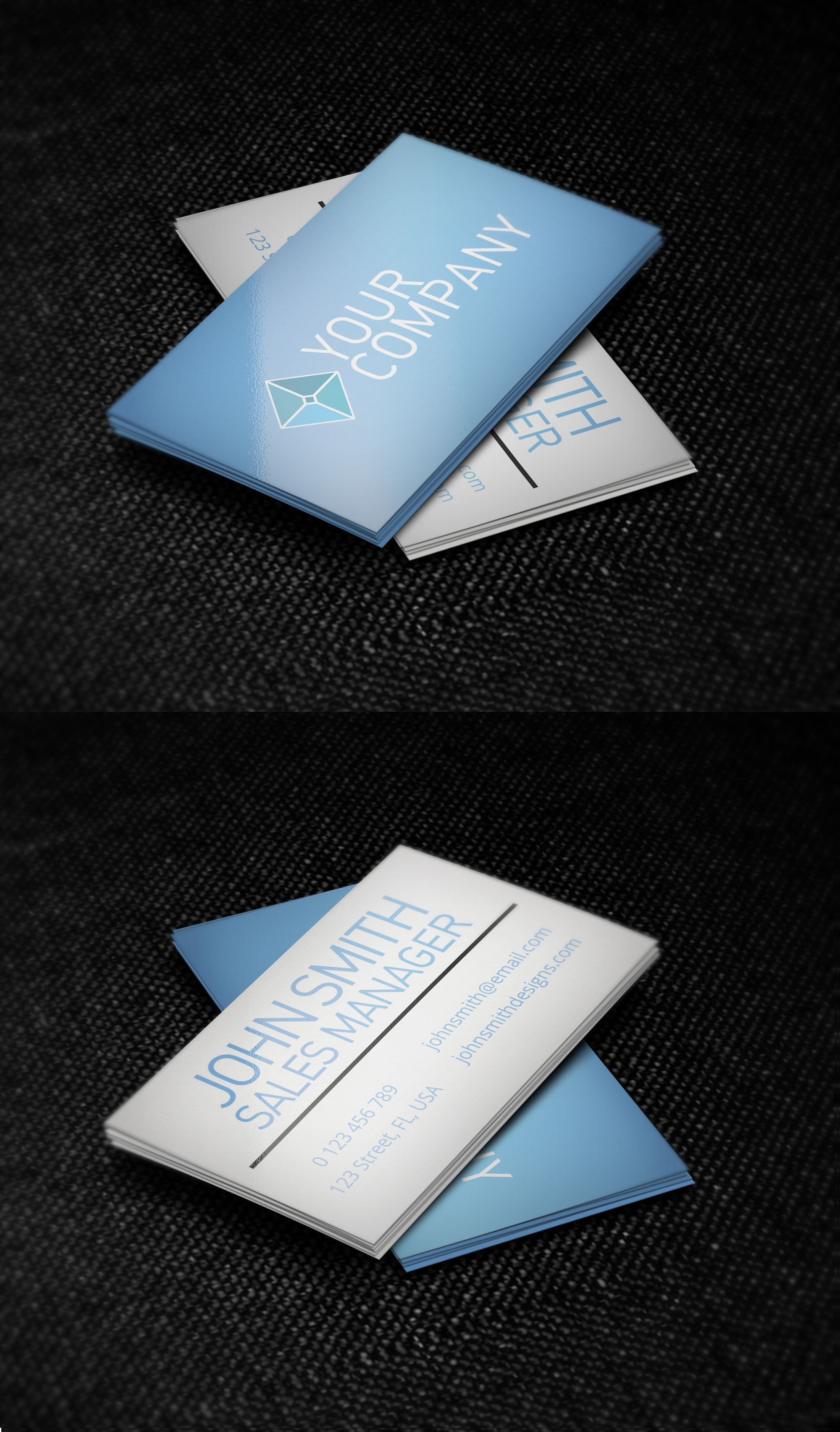 blue and white minimalist business card template by nik1010 on deviantart. Black Bedroom Furniture Sets. Home Design Ideas