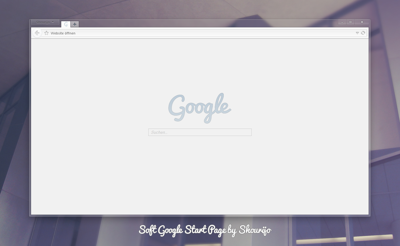Soft Google Start Page by Shourijo