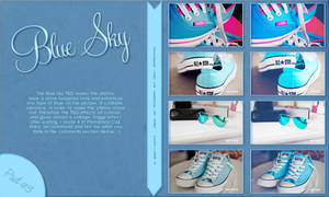 Blue Sky PSD Coloring By Sweety-Muffin