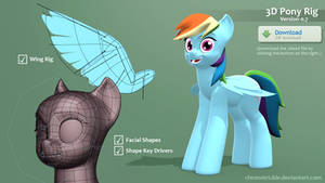 Rainbow Dash 3D Rig (V.0.7) [Download]