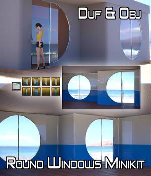 Round Windows Minikit obj and DAZ Iray