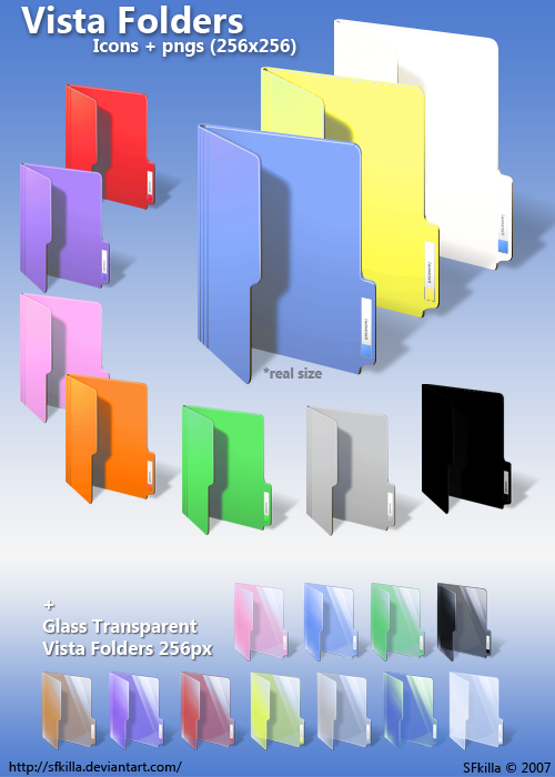 Color Folder Icons And PNGs MS