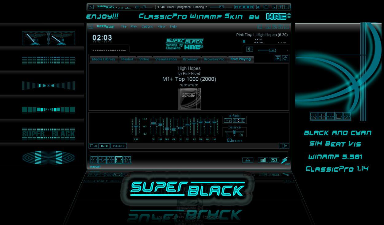 SUPER-BLACK - Winamp cPro skin by d4fmac on DeviantArt