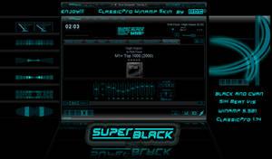 SUPER-BLACK - Winamp cPro skin by d4fmac