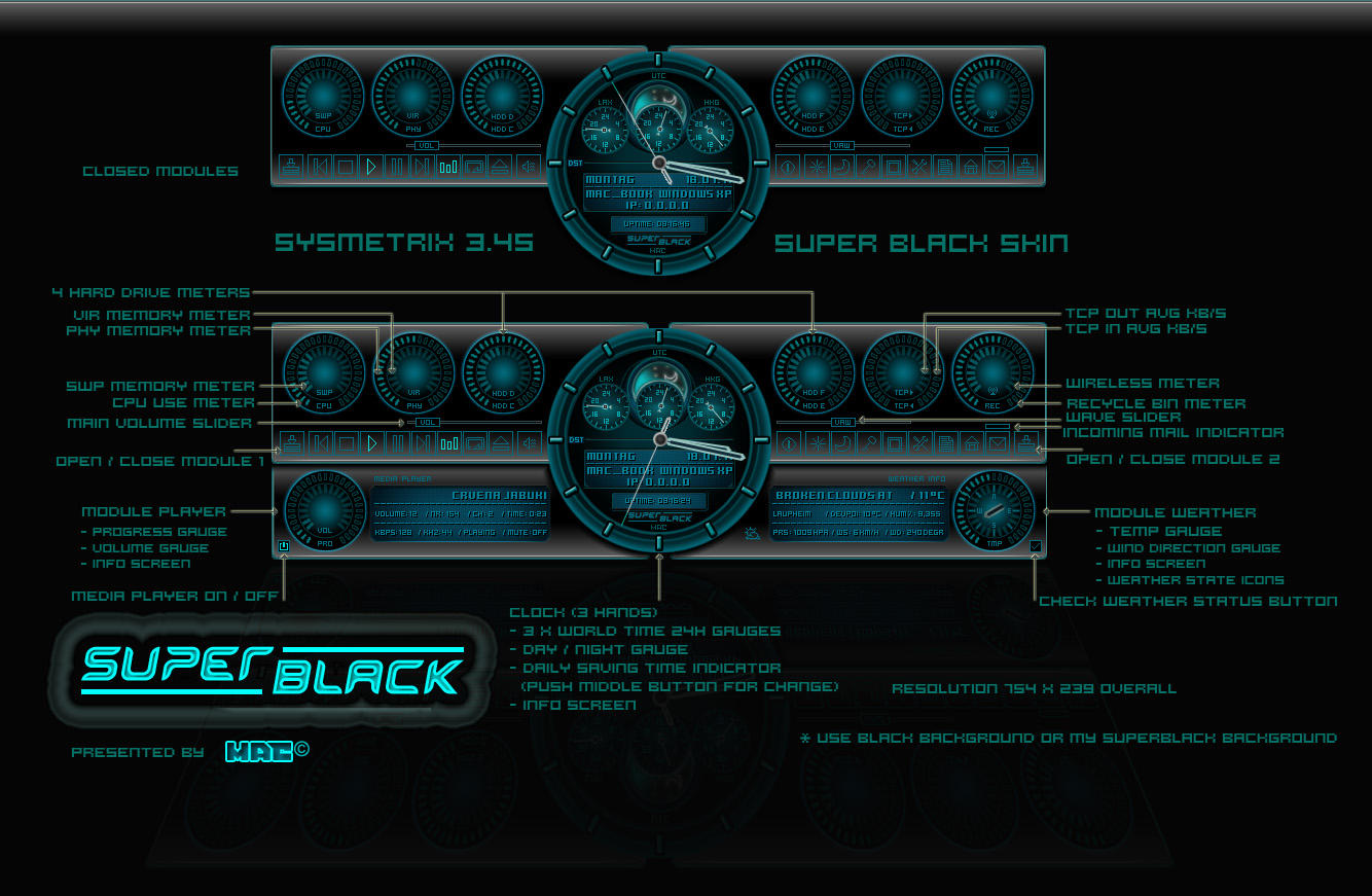 SUPER BLACK Sysmetrix Skin by d4fmac