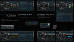 AURORA Aimp3 Player Skin by d4fmac