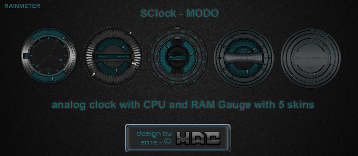 SClock-MODO 1.0 by d4fmac