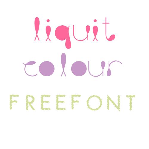 Liquit colour FONT descarga by mileylovesopure