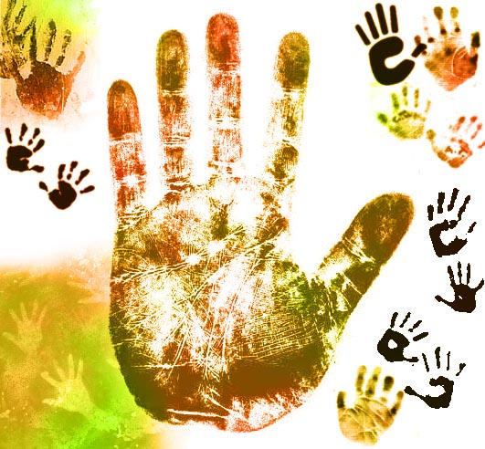 Handprint Brushes by memories-stock