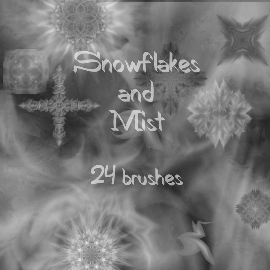 Snowflakes and Mist brushes by memories-stock