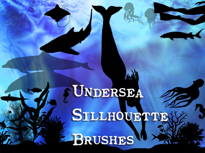 Undersea Sillhouette Brushes