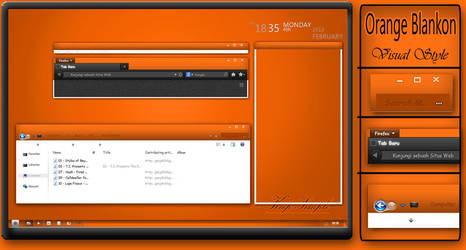 Orange Blankon by s4r1n994n