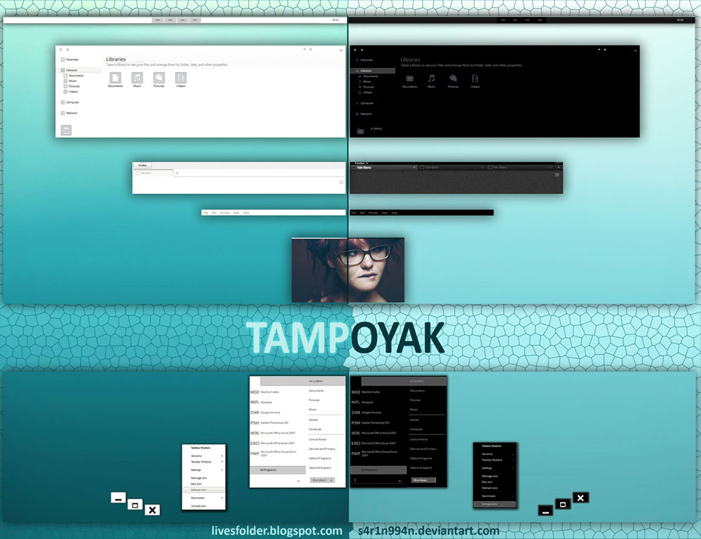 Tampoyak (Black n White) Theme for Win7