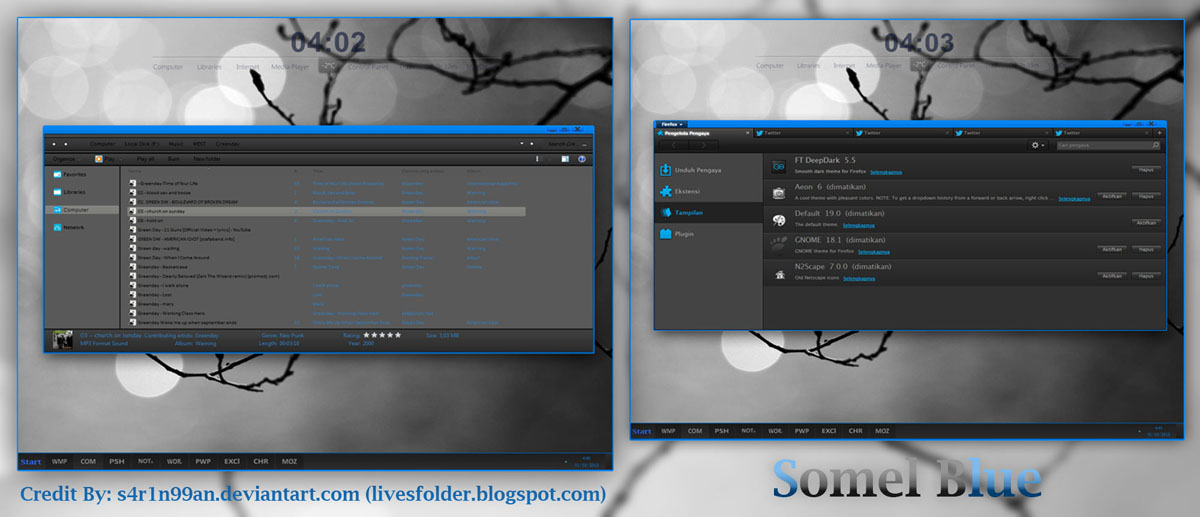 Tampoyak (Black n White) Theme for Win7