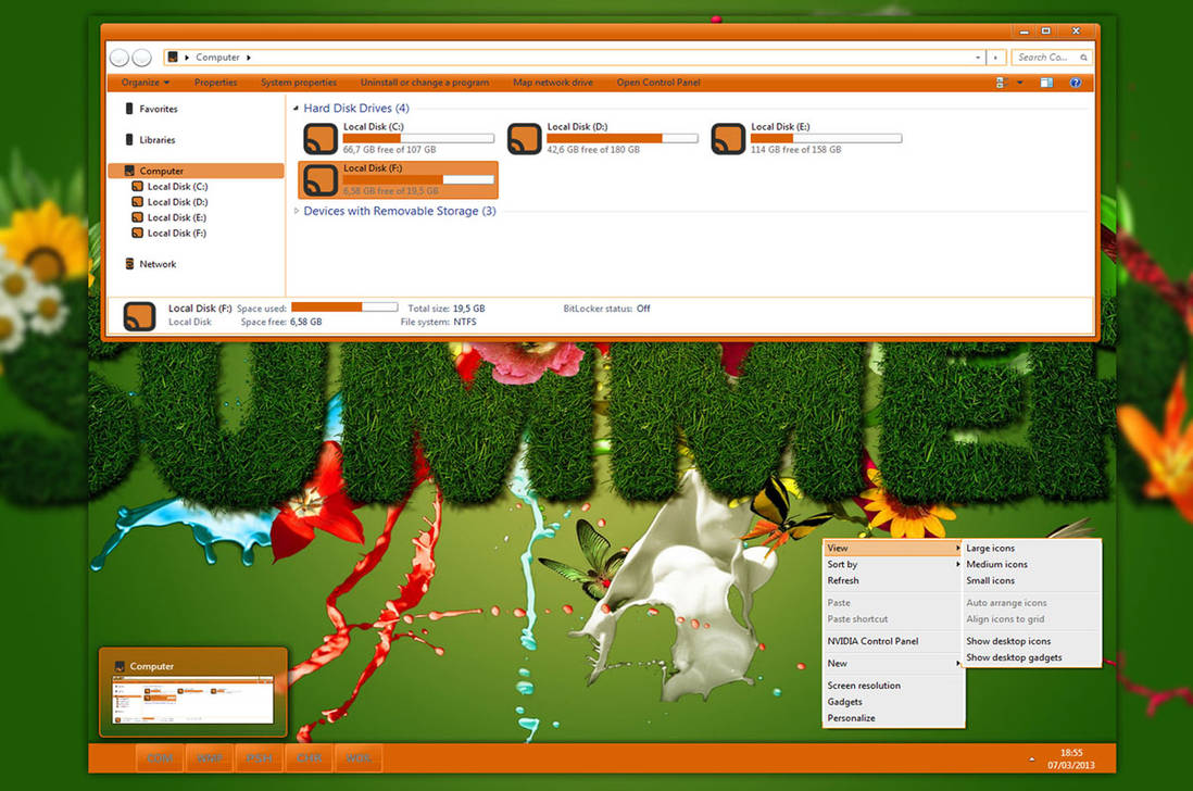 Orange Blankon for Windows 7
