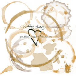 grungy coffee rings and stains