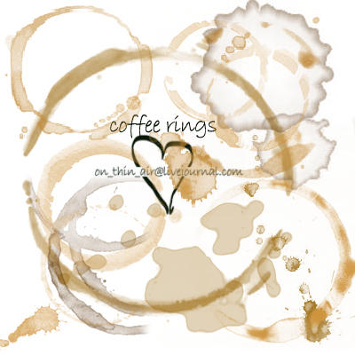 grungy coffee rings and stains by onthinair