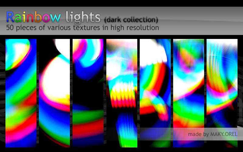 TEXTURES: Rainbow lights (dark collection) by MAKY-OREL