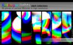 TEXTURES: Rainbow lights (dark collection)