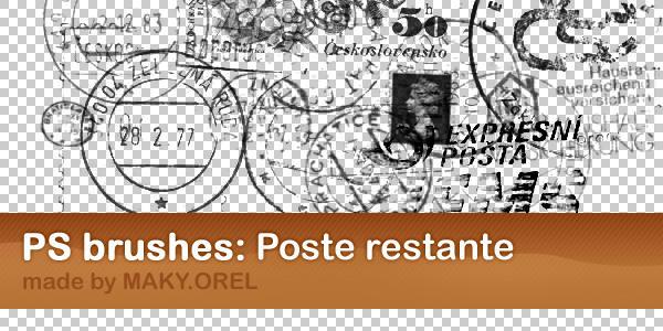 PS BRUSHES: Poste restante by MAKY-OREL
